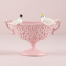 Miniature Bride And Groom Wedding Doves