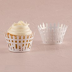 Picturesque Picket Fence Filigree Paper Cupcake Wrappers