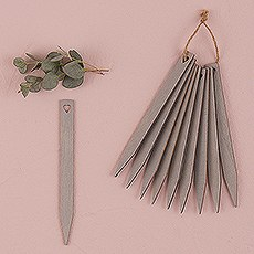 Grey Wooden Stakes with Open Heart
