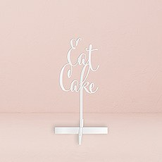 Eat Cake Acrylic Sign - White