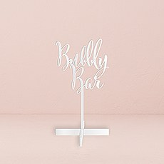 Bubbly Bar Acrylic Sign - White