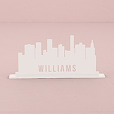 Personalized Industrial Cityscape White Acrylic Sign