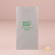 Mr & Mrs - Standard Block Bottom Gusset Paper Goodie Bags
