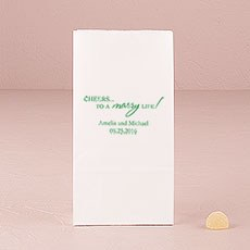 """""""Cheers to a marry Life"""" Self-Standing Paper Goodie Bag"""