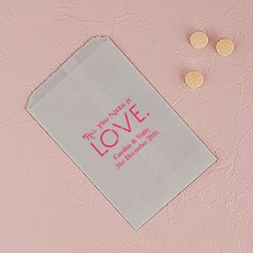 All You Need is Love. Flat Paper Goodie Bag