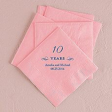 10 Years Printed Napkins