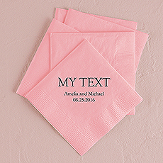 Custom Word Printed Napkins