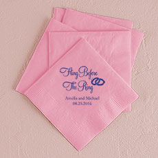 Fling Before the Ring Printed Napkins