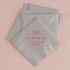 90 Years Printed Napkins