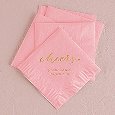 """cheers"" Printed Napkins"