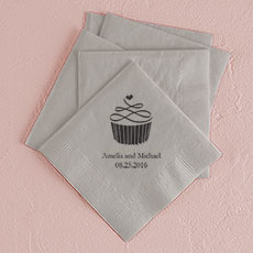 Topped with Love Printed Napkins