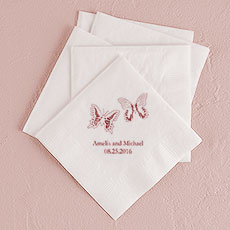 Beautiful Butterflies Printed Napkins