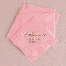 First Communion Printed Napkins