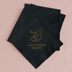 Double Hearts Printed Napkins