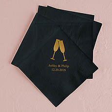 Champagne Flutes Printed Napkins
