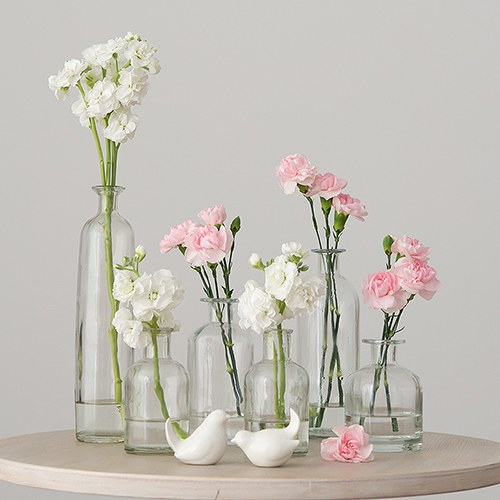 Decorating glass bottle set clear weddingstar for How to decorate empty glass jars