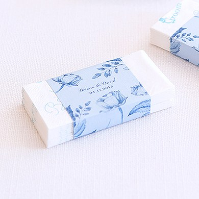 Vintage Romance Assorted Floral Personalized Matchbox Favor Box Wraps