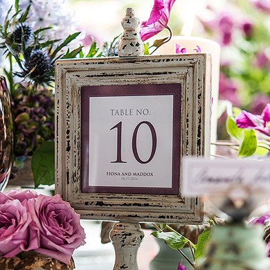 Contemporary Vintage Square Table Numbers