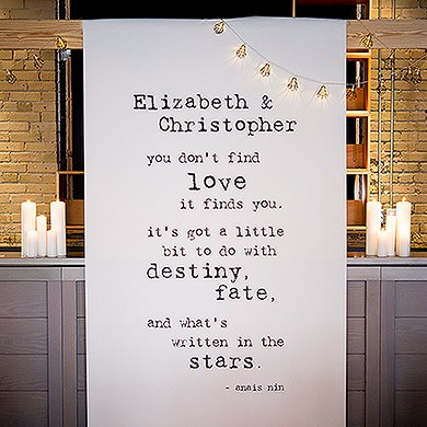 Bistro Bliss Personalized Canvas Photo Backdrop