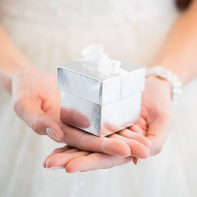 Argento Lari  Lustrous Silver Wedding Favor Boxes