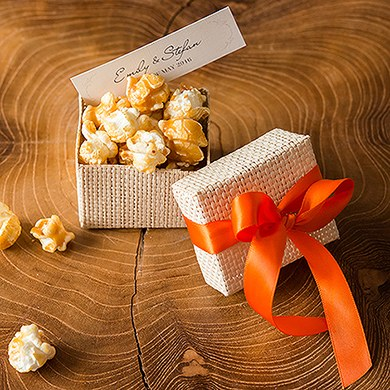 Natural 2 Piece Woven Wedding Favor Boxes