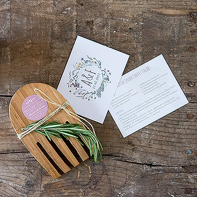 Hand in Hand Bamboo Server Set Green Wedding Favor