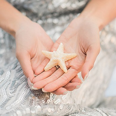 starfish candle wedding favor