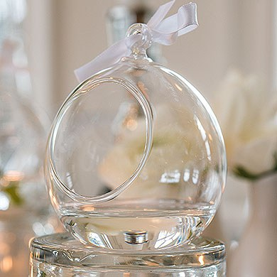 Blown Glass Globes Wedding