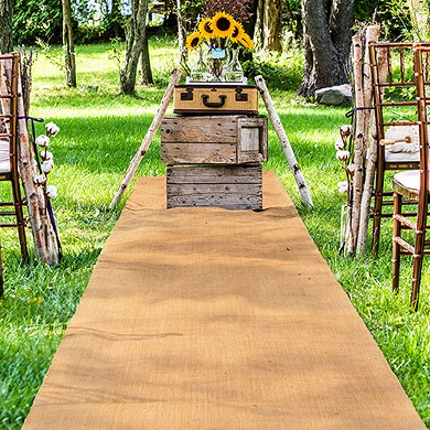 Burlap Aisle Runner_Real Brides