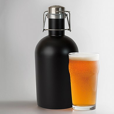 Growler 2 Go - Matte Black - Diamond Emblem Printing