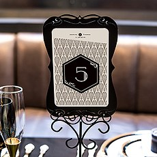 Black and Gold Opulence Large Table Number
