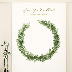 Love Wreath Personalized Backdrop