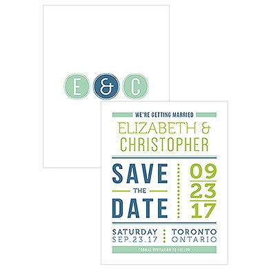 Smart Type Save The Date Card