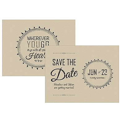 Free Spirit Save The Date Card