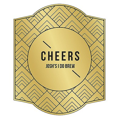 Personalized Craft Beer Bottle Label - Gold Foil