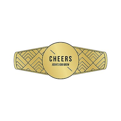 Personalized Cigar Band/Beer Bottle Label - Gold Foil