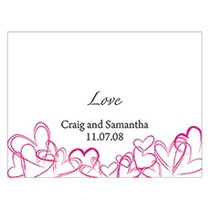 Contemporary Hearts Note Card