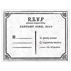 RSVP with Chalkboard Print Design
