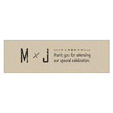 Free Spirit Initials Small Rectangular Tag