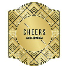 Personalized Beer Bottle Label - Gold Metallic Foil