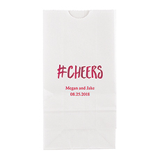 Hashtag Cheers Block Bottom Gusset Paper Goodie Bags