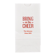 Bring on the Cheer Block Bottom Gusset Paper Goodie Bags