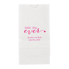 """Best day ever"" Block Bottom Gusset Paper Goodie Bags"