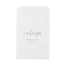 It's A Match Flat Paper Goodie Bag