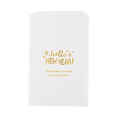 Hello New Year! Flat Paper Goodie Bag