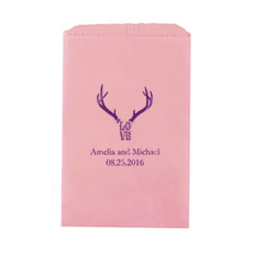 Love Antlers Flat Paper Goodie Bag