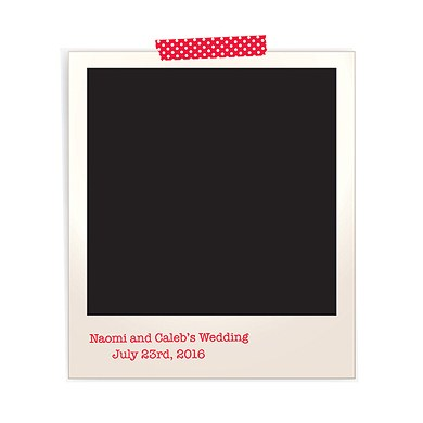 Polaroid Personalized Wedding Photo Backdrop