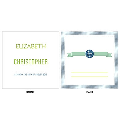 Smart Type Personalized Clear Acrylic Block Cake Topper
