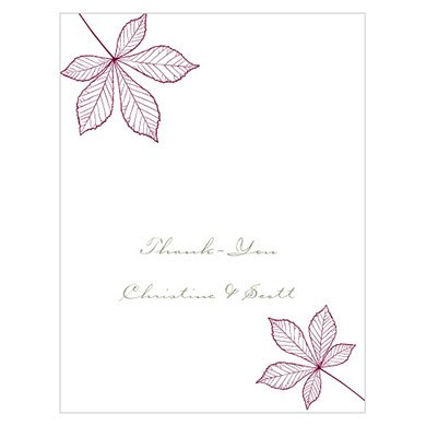 Autumn Leaf Place Card With Fold