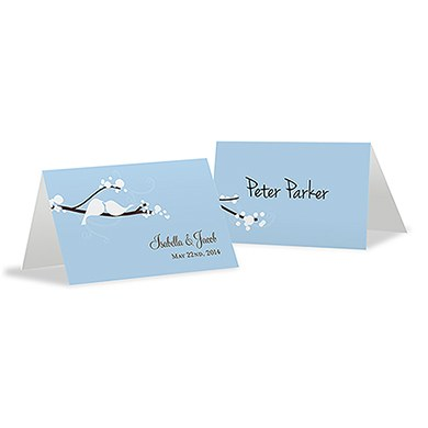 Love Bird Place Card With Fold